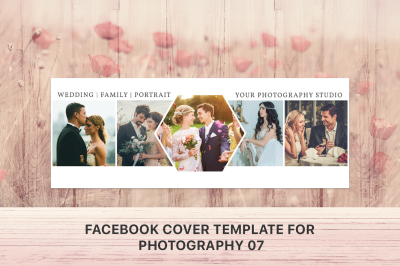 Facebook Cover Template for Fashion Photography 07