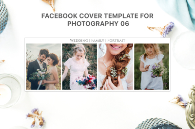 Facebook Cover Template for Fashion Photography 06