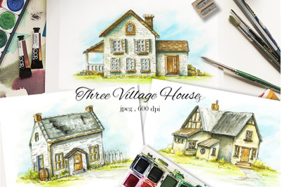Three Village Houses