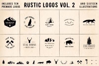 Rustic Logos Volume 2 AI EPS PNG PSD