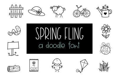 Spring Fling - A Doodle Font