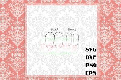 DIGITAL DOWNLOAD Shoe Sole SVG for 18