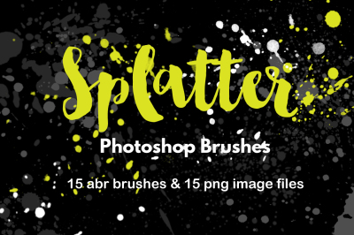 Watercolor Splatter Paint Brushes Grunge Photoshop