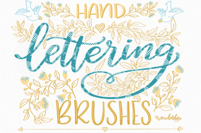 Lettering Lace Brushes for Procreate