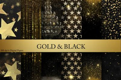 Gold & Black Digital Paper