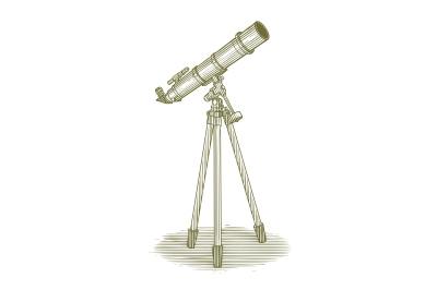 Woodcut Telescope