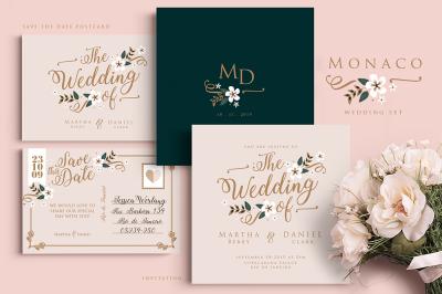 Monaco Wedding Set
