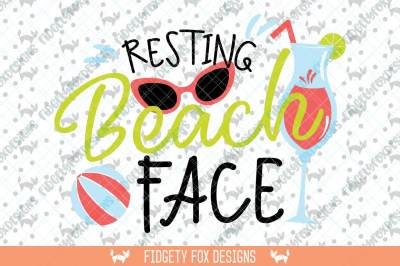 Resting Beach Face Svg Beach Clipart, Sunglasses svg, Vacation svg