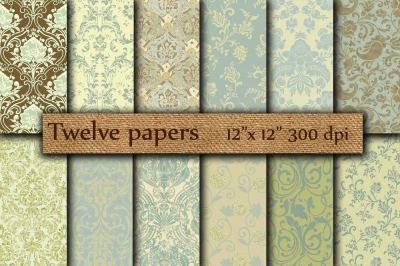 Damask digital papers