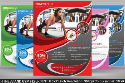 Fitness And Gym Flyer Poster