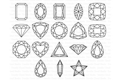 Gems SVG, Diamond SVG, Precious Stone SVG files.
