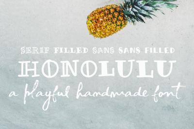 Honolulu | a handmade font