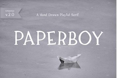 Paperboy   A Hand Drawn Playful Serif
