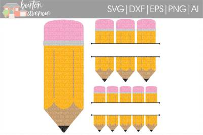 Split Pencil SVG Cut File • Cricut • Silhouette