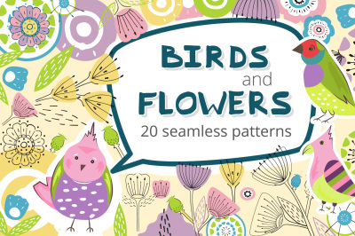 Birds and Flowers - 20 Patterns
