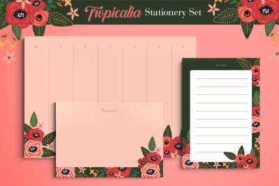 Tropicalia Stationery Set