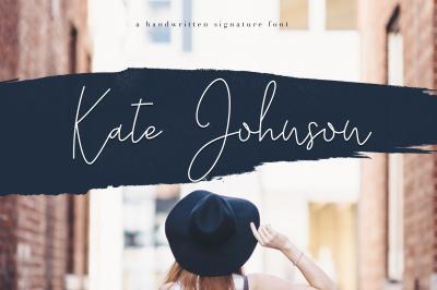 Kate Johnson - Handwritten Signature Font