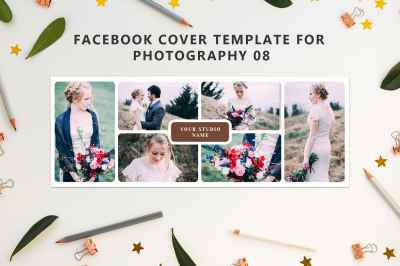 Facebook Cover Template for Wedding Photography 08