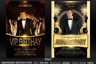 Anniversary Birthday Bundle Flyer 2in1