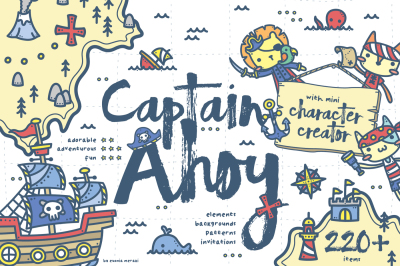 Captain Ahoy - Pirate Graphics for boys
