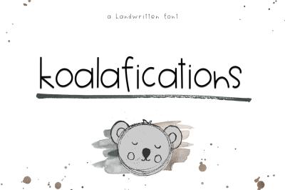 Koalafications - A Cute Handwritten Font