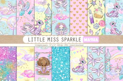 LITTLE MISS SPARKLE digital papers