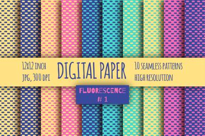 Fluorescent # 1 digital paper pack