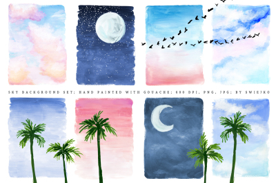 Sky Background, illustration set