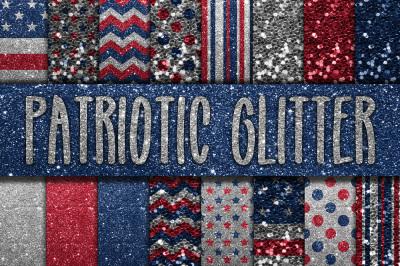 Patriotic Glitter Digital Papers