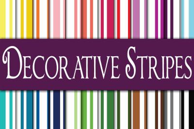 Decorative Stripes Digital Paper