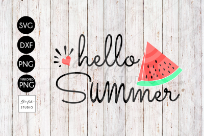 Hello Summer SVG File, DXF File, PNG File