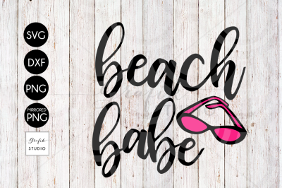 Beach Babe SVG File, DXF File, PNG File