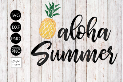 Aloha Summer Beach SVG File, DXF File, PNG File