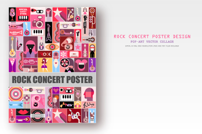 Two Rock Concert Poster designs, vector artworks
