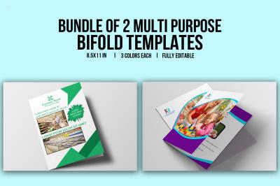 Bundle of 2 Multi Purpose Bifold Templates
