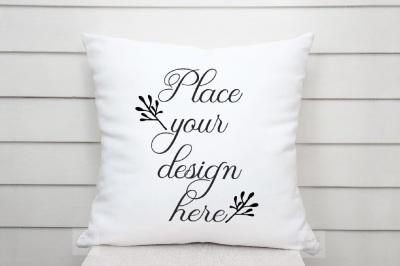 Pillow mockup nautical beach sublimation cushion mock up psd