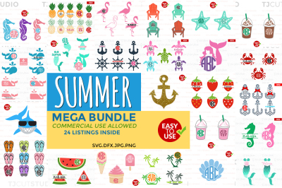 Summer Bundle svg, svg bundle, Summer svg.