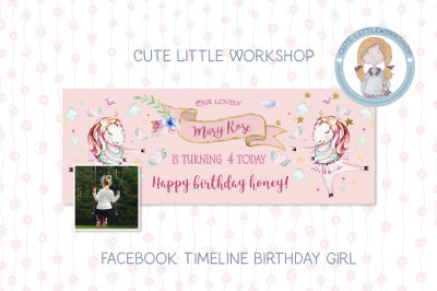 Facebook Timeline Birthday Unicorn Template