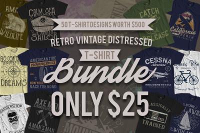 50 Retro Vintage T-Shirt Designs