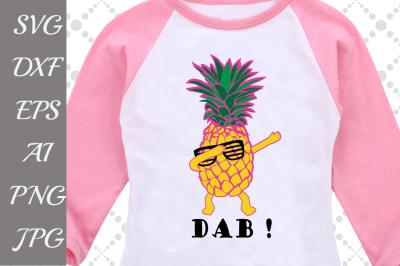 Dab Pineapple Svg-SUMMER SVG