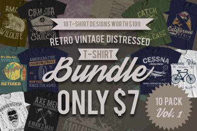 10 Retro Vintage T-Shirt Designs VOL. 1