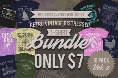 10 Retro Vintage T-Shirt Designs VOL. 2