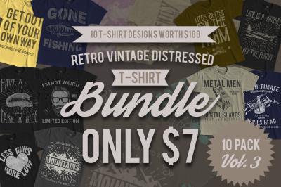 10 Retro Vintage T-Shirt Designs VOL. 3