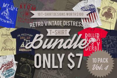 10 Retro Vintage T-Shirt Designs VOL. 4