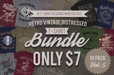 10 Retro Vintage T-Shirt Designs VOL. 5