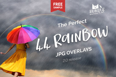 44 Rainbow Photo Overlays
