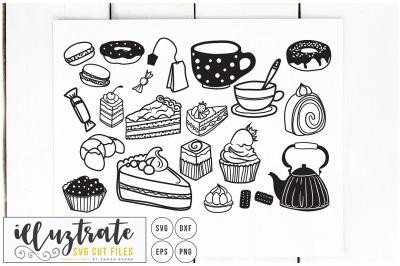 Tea & Cake SVG Bundle - Cake Cut Files