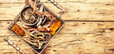 Set of roots of medicinal plants