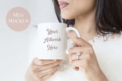 Woman holding mug - bride