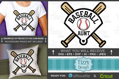 Baseball Aunt Shirt - Baseball Home Plate Svg Baseball Aunt Svg 3031
